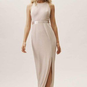 Champagne colored Idris Dress by Adrianna Papell